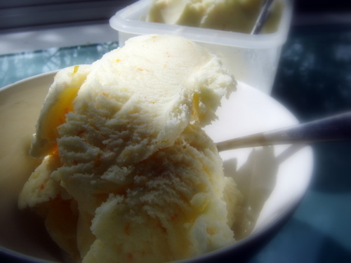 Lex Culinaria: Buttermilk, orange and cardamom ice cream